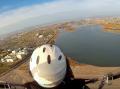 動力のあるパラモーターで平地からテイクオフ!天竜川上空をゆったりと海までフライトします。