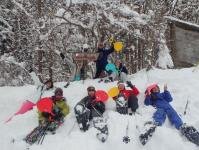 人数分のソリを用意!大人も子供も思いきり雪遊び!