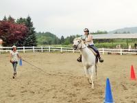 初めてでも安心!トレッキングに出かける前に、乗馬の基本技術をしっかりとレッスンいたします。小学4年生からご参加OK!