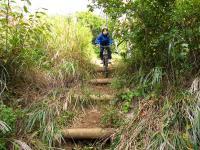 山々を縫うように走る本格ダウンヒル(下り坂)コースです。MTB本来の姿を身体全体で感じよう