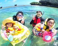 3歳~ご家族で楽しめる!1グループ貸切の完全プライベートガイドツアーです。幼児用の浮き輪も用意してます。