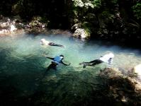 綺麗な水中に潜って魚を探してみよう!ゴーグル無料レンタルあり!