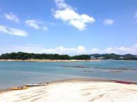 貝殻でできた小さな島、呼称「シェルアイランド」に上陸!