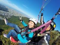 標高約600m(標高差約450m)の獅子吼高原から飛び立つ絶景フライト!