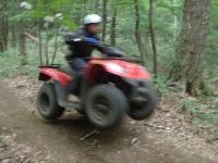 未整備の山道、ワイルドな林間コース!