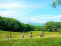 雄大な駒ヶ岳の眺め