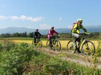 里山をのんびりサイクリング