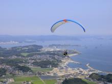 日本三景松島遊覧 パラグライダー二人乗り体験