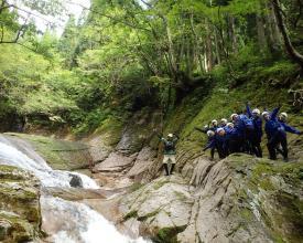 原生林の森に囲まれた谷はマイナスイオン100%歩いているだけで癒されます。