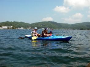 1家族1インストラクターが担当するプライベートガイドツアー!料金もリーズナブル。思いっきり水遊びを楽しもう!!