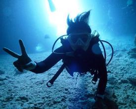 一番やさしい青の洞窟体験ダイビング