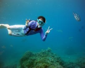 アクティブに海を楽しむならスキンダイビング!自由度NO1です。