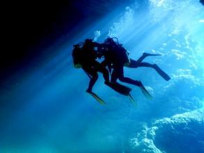 《完全貸切!ボートで手軽に楽しめる》 青の洞窟体験ダイビング ◆写真つき