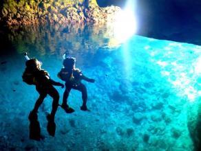 《少人数制!ボートで手軽に楽しめる》 青の洞窟シュノーケリングコース◆写真つき