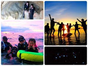 《秘密のビーチで非日常の感動体験》 夜光虫&星空ナイトシュノーケリング ◆写真つき