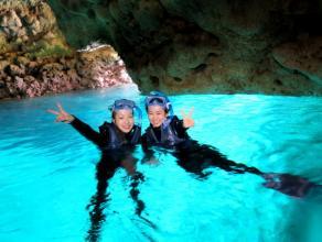 《完全貸し切り制・らくらくボート開催》青の洞窟シュノーケリング◆写真つき
