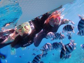 【ボートで青の洞窟へ!貸切・オーダーメイドで楽しむクレアのおもてなしシュノーケリング!】青の洞窟 シュノーケリング ◆写真つき