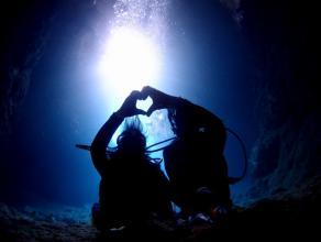 《高画質な写真と無料動画!》 少人数完全貸切!ボートで行く青の洞窟体験ダイビング ◆写真つき