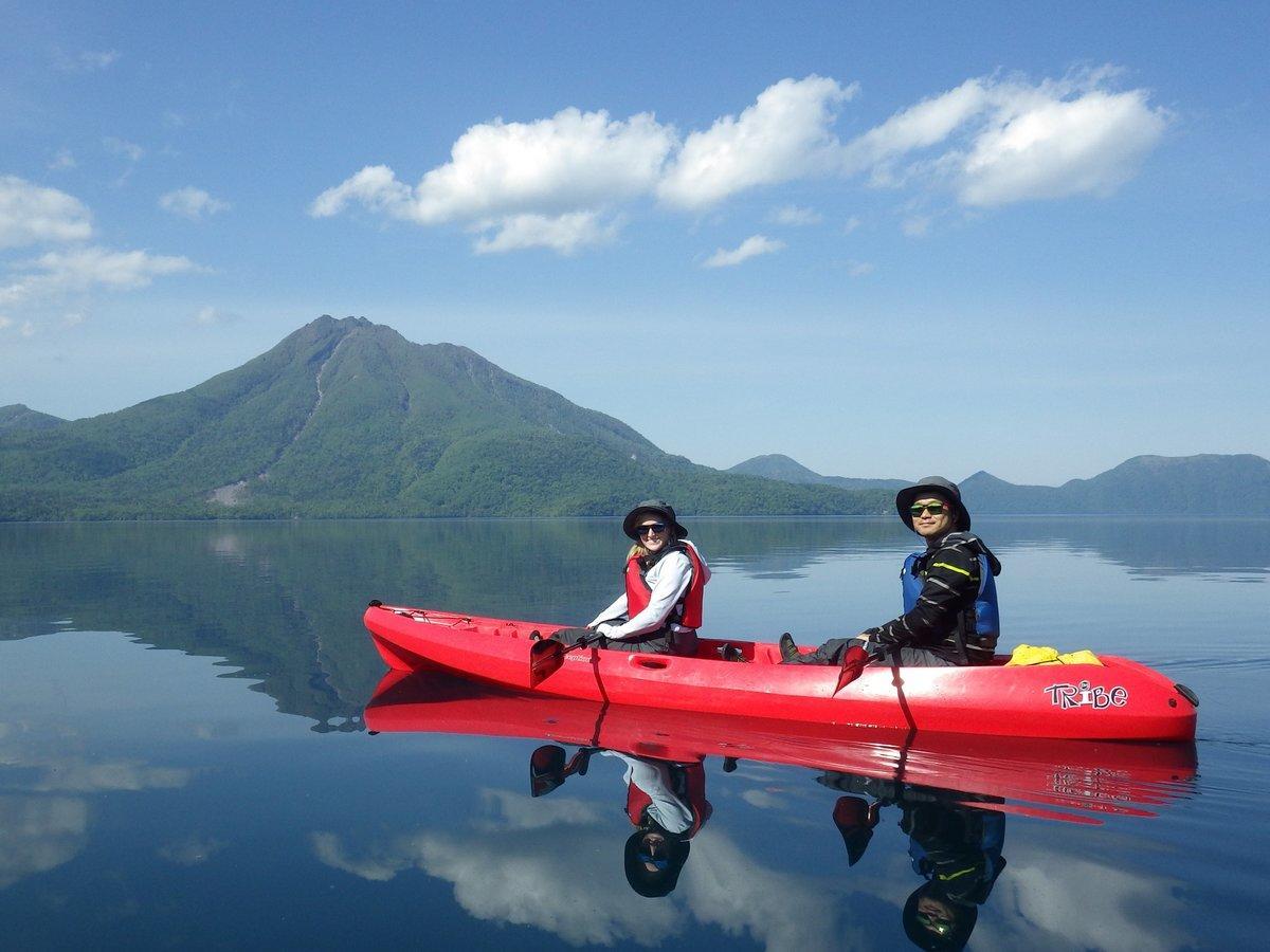 支笏湖 カヤックツアー