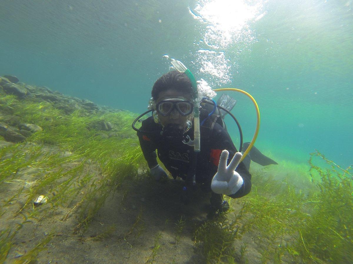 支笏湖 体験ダイビング