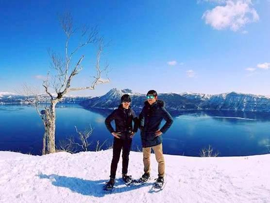 摩周湖 スノーシューツアー