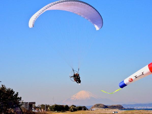 天気が良ければ富士山が見えることも。