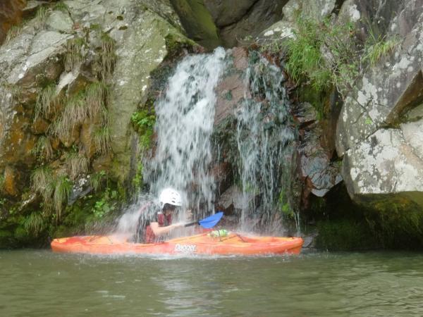 希望者には飛び込みや滝に打たれたりすることもできます。がっつり川遊びしちゃいましょ。