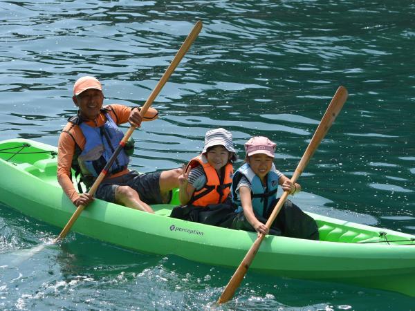 小学1年生から参加OK!親子3人で同乗もできますので、ご家族揃ってお楽しみいただけます。