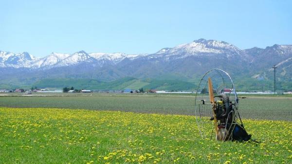北海道・富良野モーターパラグライダー