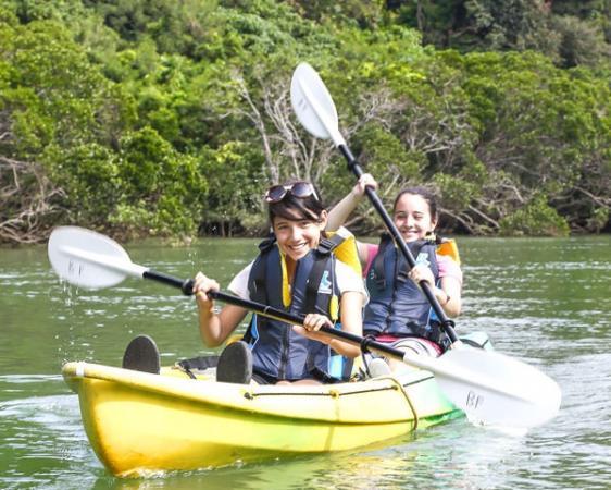 那覇空港や市街地からのアクセスも抜群の比謝川(ヒジャガワ)で、マングローブリバーカヤック体験ツアー!
