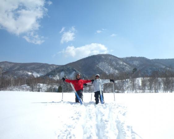 冬に真っ赤になるケショウヤナギ、本州では上高地だけに自生。