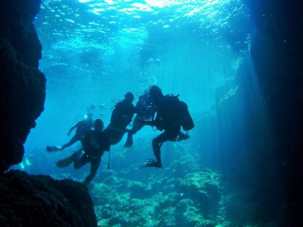 青の洞窟・砂辺 体験ダイビング