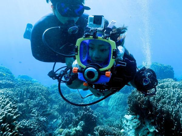 【下地島カヤッファ】8歳からOK!フルフェイスマスクで快適「スローダイビング」あり!