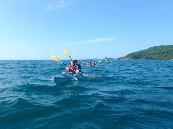 海の風を感じ、波にゆられ、自然を心とからだで感じられます