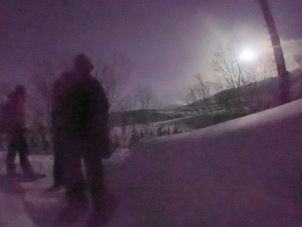 静かな夜の森と温泉を楽しめる!夜のスノーハイキングプランあり