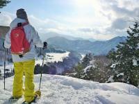 真っ白い雪に覆われた世界を、冒険気分でハイキング!