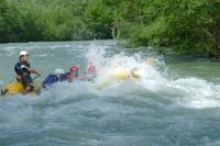 夏でも常時安定した水量の十勝川でのラフティング!こんな大波があるかも!?