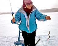「こんなに釣れちゃいました〜」魚が針にかかった瞬間がなんともいえません。