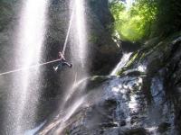 最大40m!大迫力の「ムササビ滝」ジップライン!