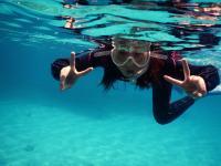 大島海峡の透き通る海