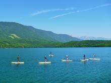 青木湖SUPツーリング