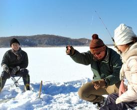 釧路・ワカサギ釣り