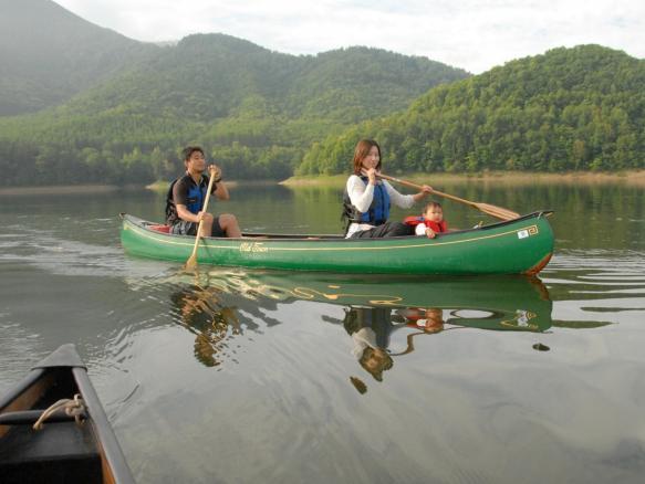 南富良野 サホロ湖カヌー