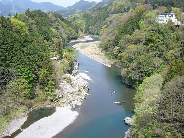 日本百景の一つ《秩父多摩甲斐国立公園・吉野峡》、景色の良い大自然の中でのカヤック体験!!