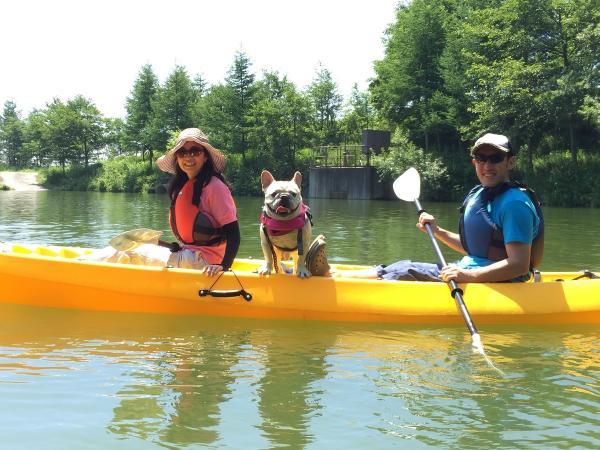 愛犬と一緒に湖上散歩はいかがですか?