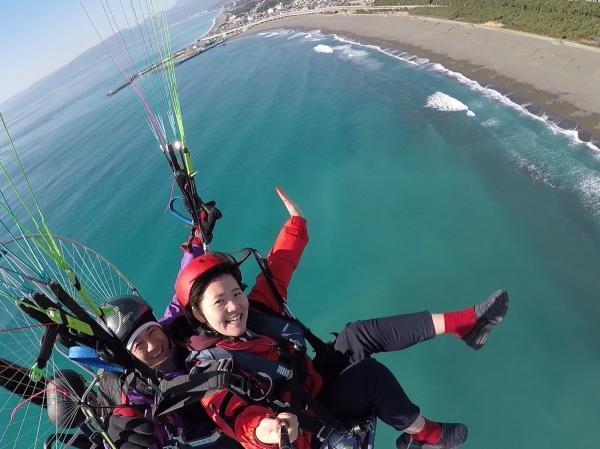 湘南平塚の海を見ながらモーターパラグライダー!