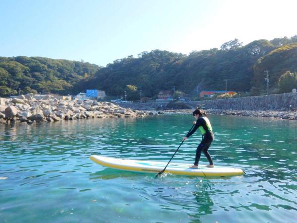 波風を避けられるプールがあるので、しっかり練習できます。