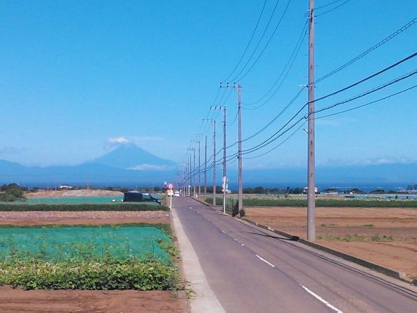 晴天時には正面には富士山が!