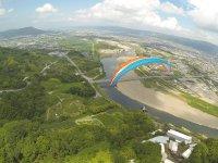 上空かから見る紀ノ川はとっても綺麗ですよ〜!