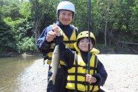 エコラフティングはちょっとだけ釣りにも挑戦